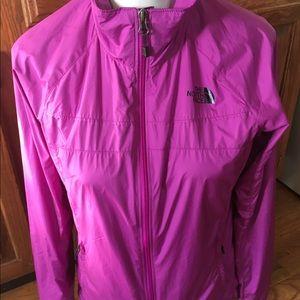 The North Face Fushia Windbreaker Jacket Coat Sz S